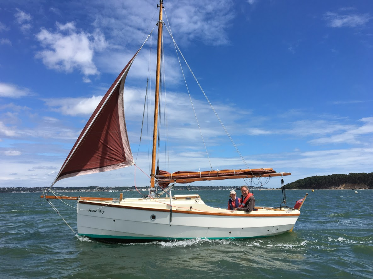 PYC member and SOA chairman Trevor Heritage runs back to the haven after a Shrimper picnic off Brownsea