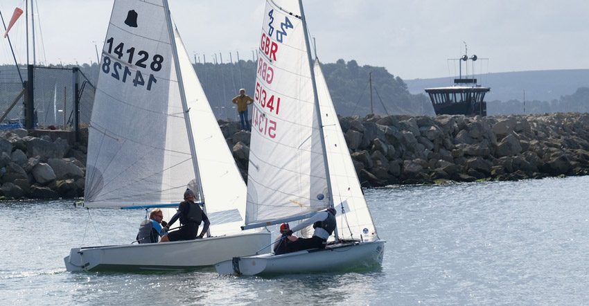 Sailing out for the giffen trophy race